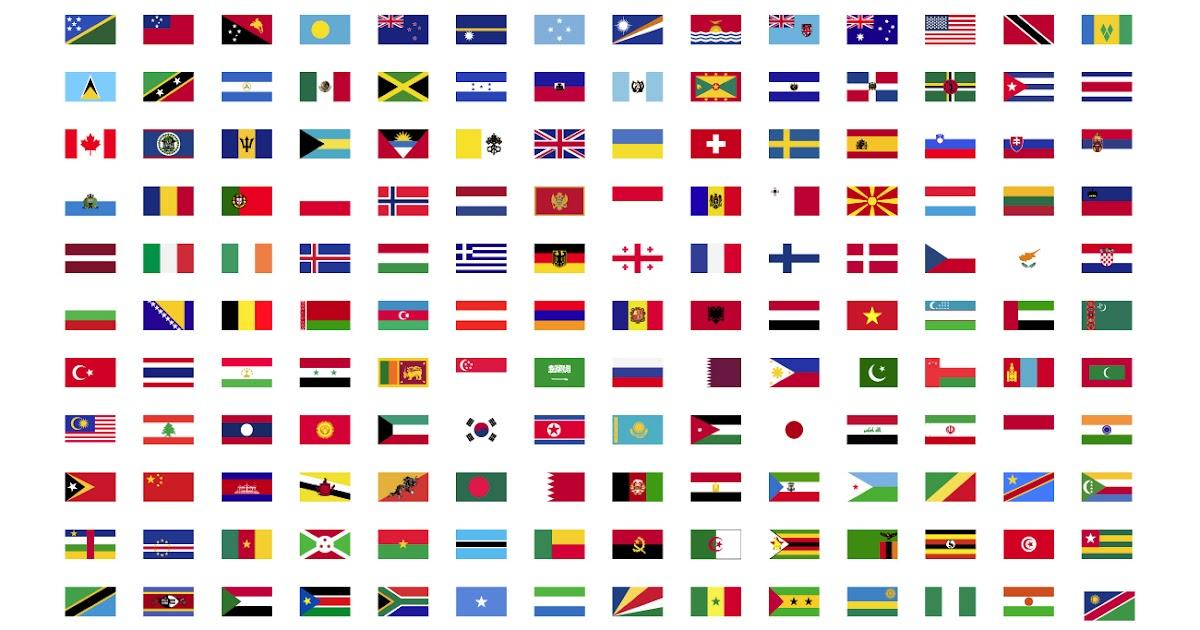 تحميل مجموعة اعلام دول العالم العربي والغربي على شكل ايقونات اعلام 189 دولة تحميل صور Png