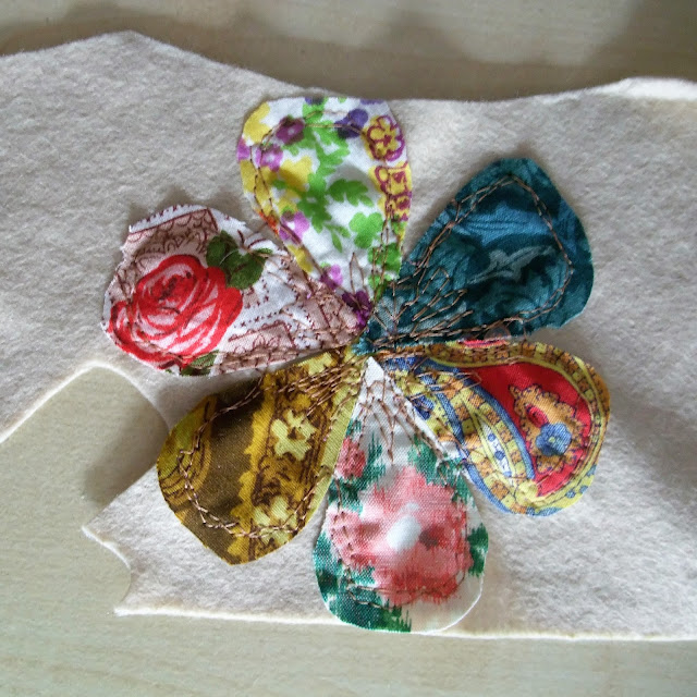 vintage fabric flower by karen vallerius