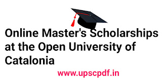 Online Master's Scholarships at the Open University of Catalonia