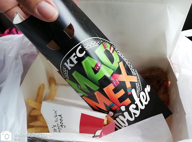 NASIB TAK GILA MAKAN KFC MAD MEX TWISTER - Menu terbaru KFC MAD MEX TWISTER, terpandang perkataan MAD terus terfikir akan tergila-gila kah aku nanti dengan  MAKAN KFC MAD MEX TWISTER ?    NASIB TAK GILA MAKAN KFC MAD MEX TWISTER