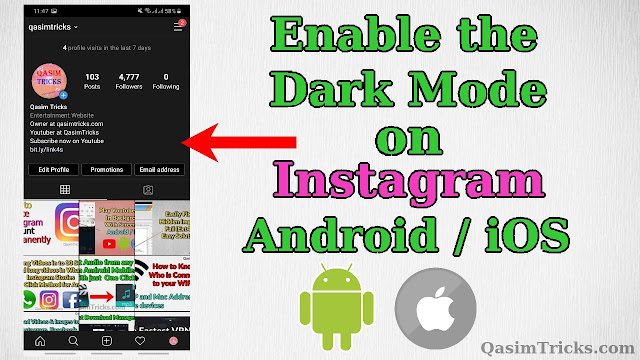 How to enable the Dark Mode on Instagram in Android or iOS