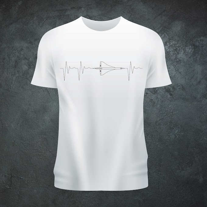 Aircraft Nerds Heartbeat Unisex T-shirt