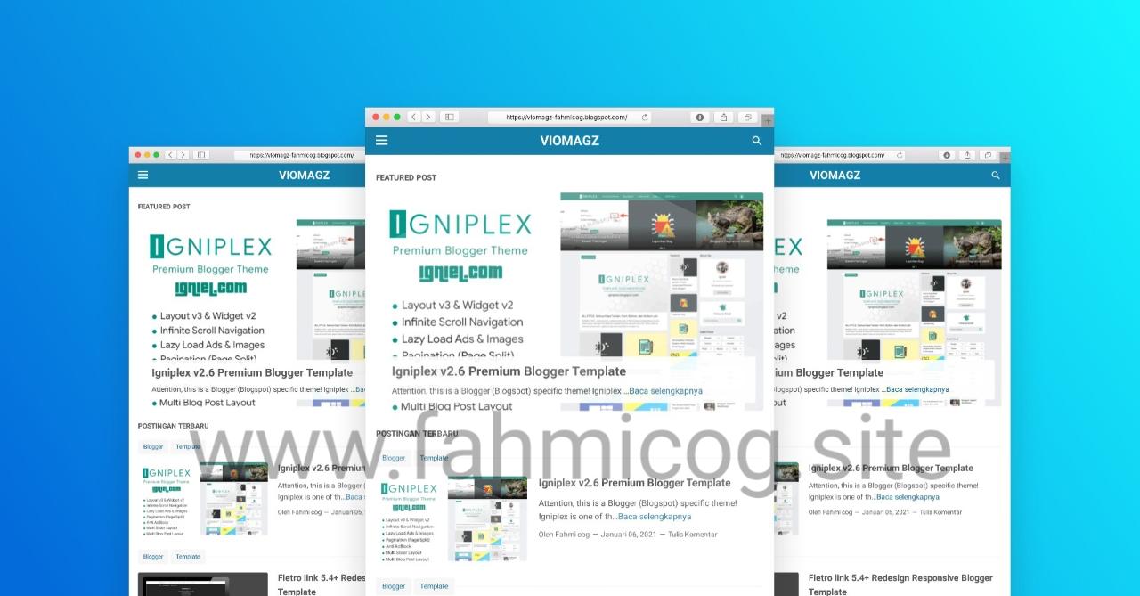 Free Download Viomagz V4.3 Responsive Blogger Template