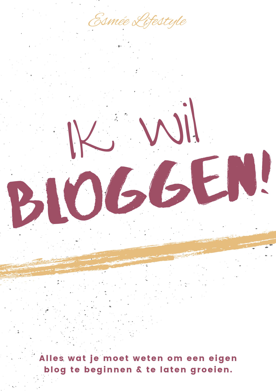 E-book ik wil bloggen!