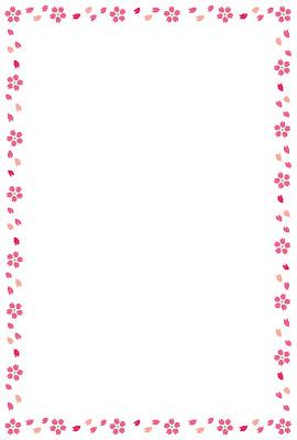桜のイラストフレーム(枠 ...
