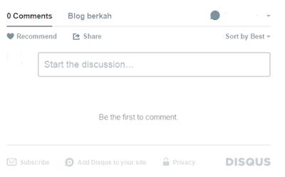 Cara Memasang Komentar Disqus Keren di Blog