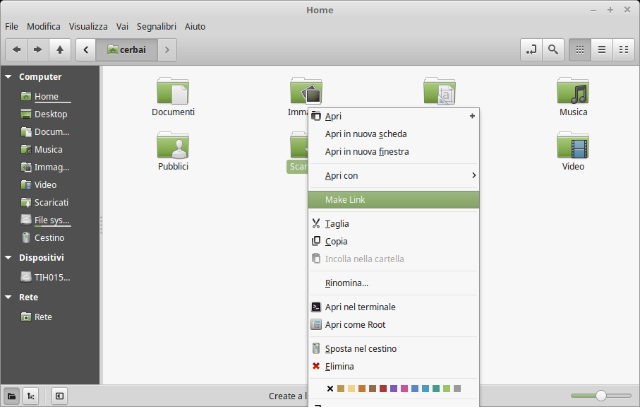 Add Symbolic Link To Nemo In Linux Mint Maurocerbai