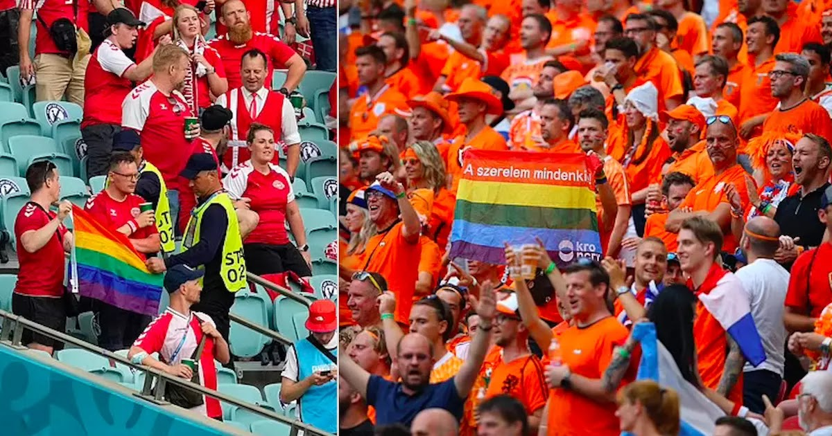 Anger After Danish Fans Have LGBT Flag Confiscated By Azerbaijani Stewards During Game In Baku