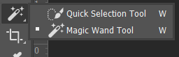 Quick Selection Tool dan Magic Wand Tool Toolbox Adobe Photoshop