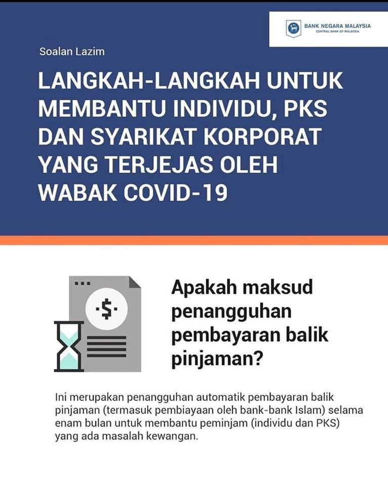 Info tangguh bayar hutang bank sebab covid-19