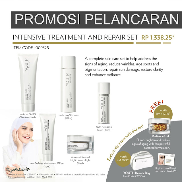 Promosi Intensive Treatment and Repair Set Youth Shaklee