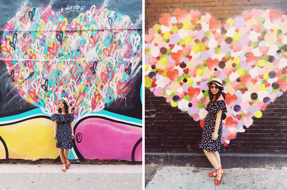 most instagrammable places in NYC hektad heart graffiti