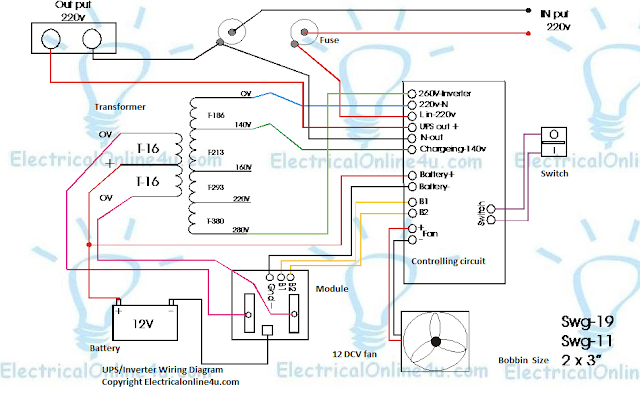desi ups circuit diagram