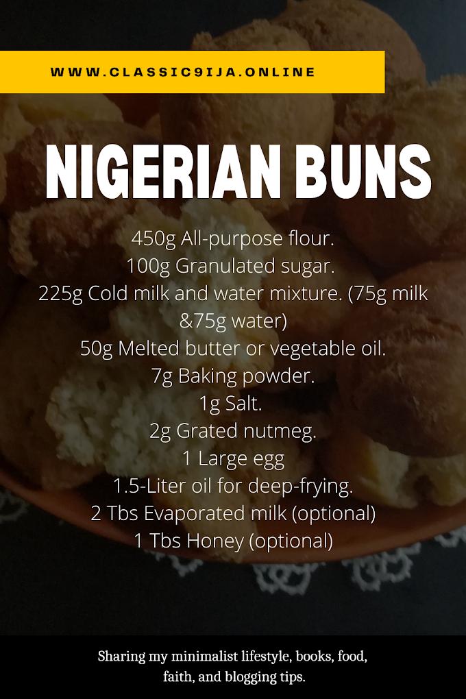 HOW TO MAKE NIGERIAN BUNS