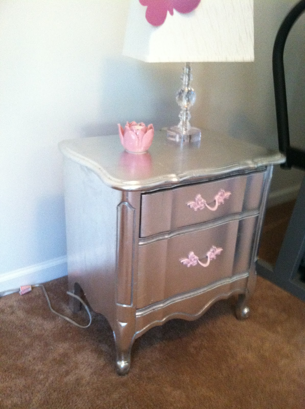 Aluminum Silver Leafed French Provincial Furniture
