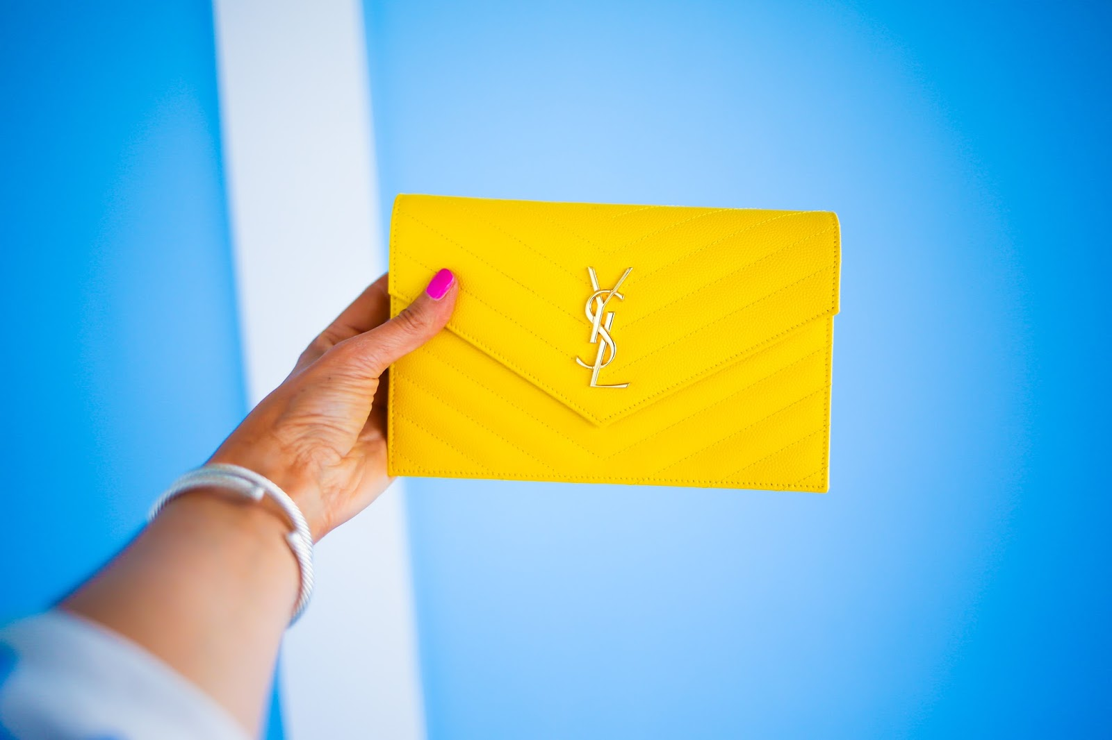 yves saint laurent evening bags - The Sweetest Thing: Bright Summery Colors + The Wedges I'm Wearing ...
