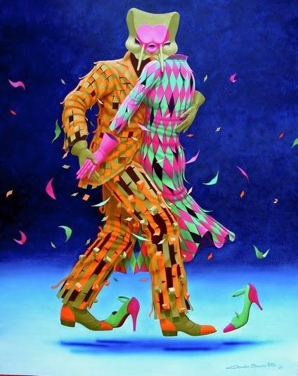Tango - Claudio Souza Pinto e suas pinturas cheias de cor e criatividade