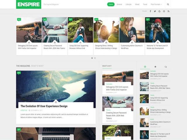 Enspire Best Free WordPress Themes For Blogs 2021