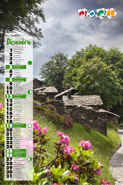 Calendario 2021 mensile con santi e lune