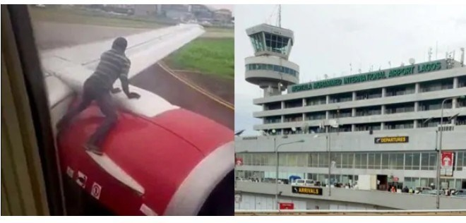 Identity Of Man Who Climbed Aircraft At Lagos Airport Revealed