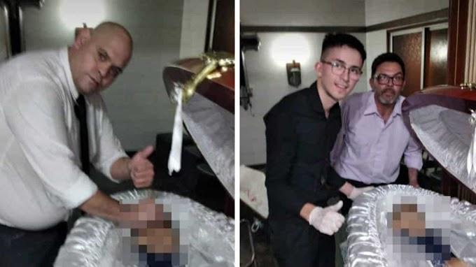 Ex-funcionário de funerária pede desculpas após fotos com Maradona em caixão