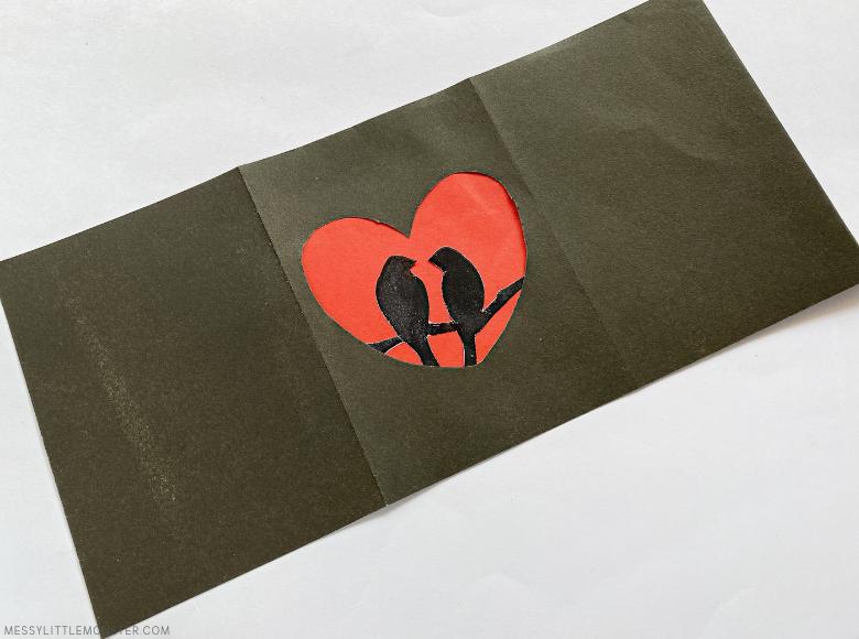 valentines day luminary paper craft
