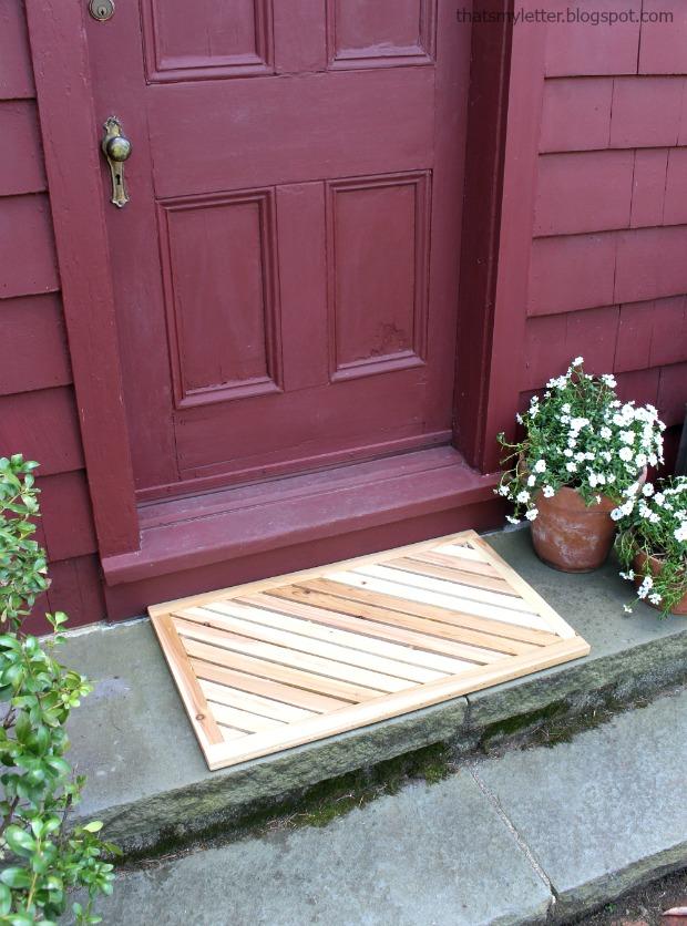 That's My Letter: DIY Wooden Door Mat Virtual Party
