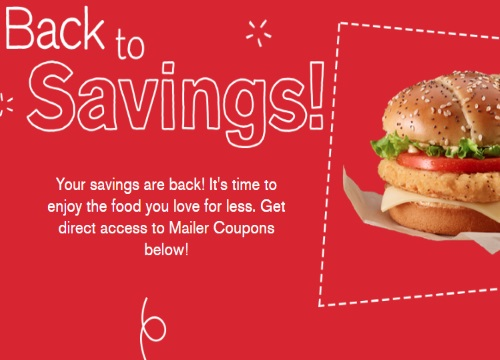 Mcdonalds Back To Savings Coupons