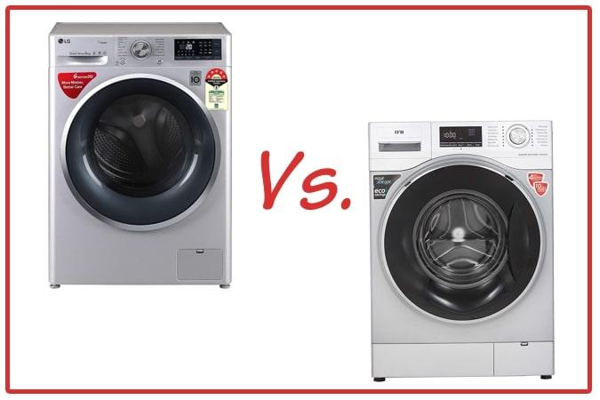 LG FHT1408ZWL (left) and IFB Senator WXS (right) Washing Machines.