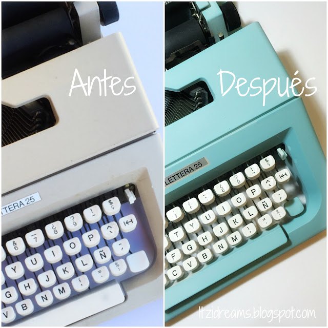 DIY Typewriter Spray, DIY Home decor, Vintage, DIY, Paint.