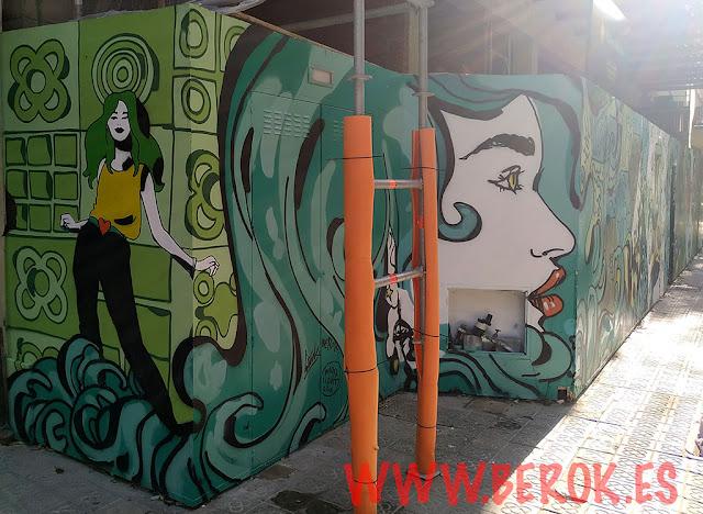 graffitis en Barcelona
