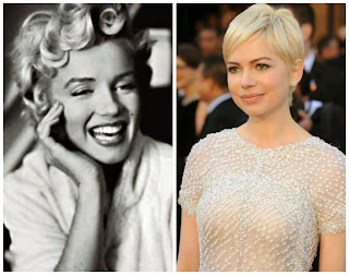 Marilyn Monroe y Michelle Williams