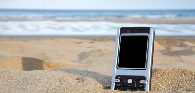 phone beach, declutter sell phones