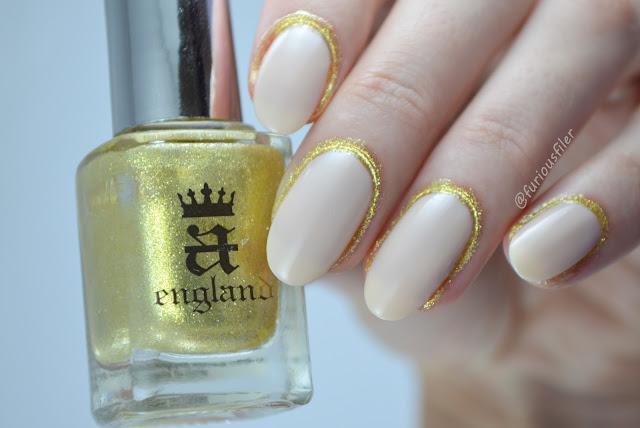 Nail trend NYFW glitter cuticles furious filer nude ss17