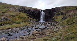 Cascada Gufufoss, Fiordos del Este de Islandia.
