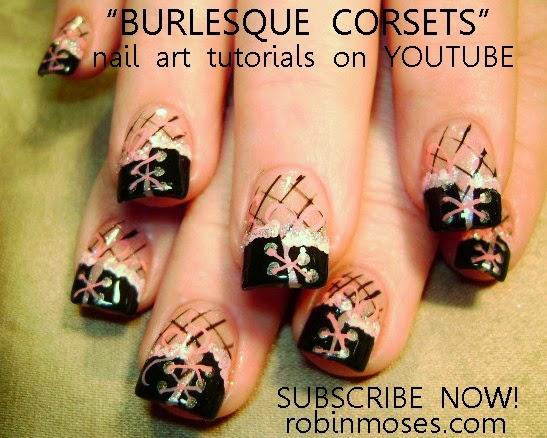 """Robin Moses Nail Art: """"rose nails"""" """"rose corset nails ..."""