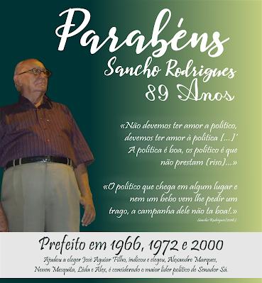 Sancho 89 anos