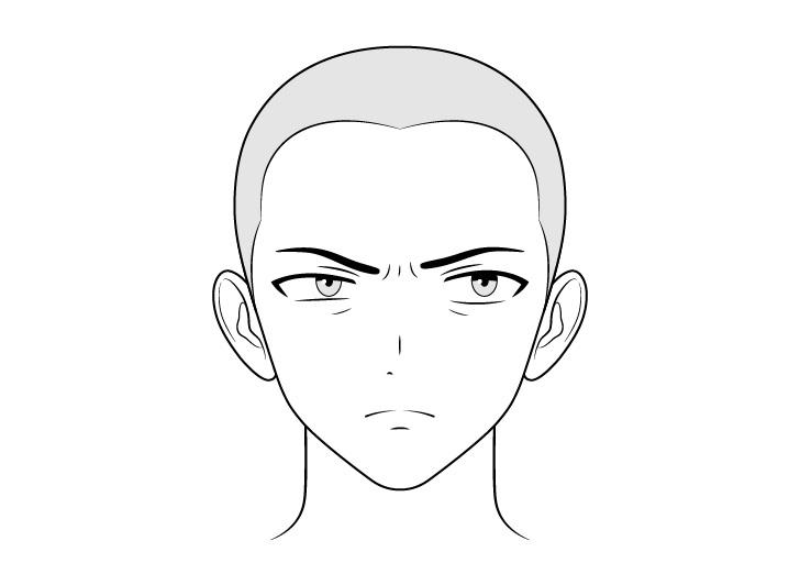 Antek anime gambar wajah khawatir