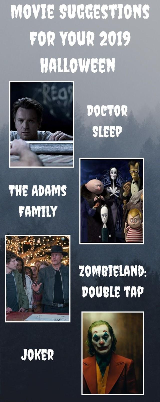 Infográfico - 4 Filmes Para um Bom Plano de Halloween nos Cinemas!