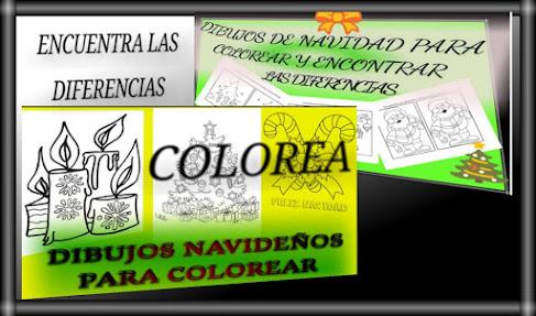 NAVIDAD-DICIEMBRE-ENCUENTRA LAS DIFERENCIAS Y COLOREA