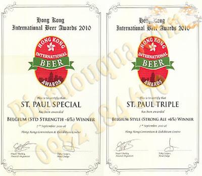 Những giải thưởng về bia tại Bỉ của bia thầy tu St.Sebastiaan