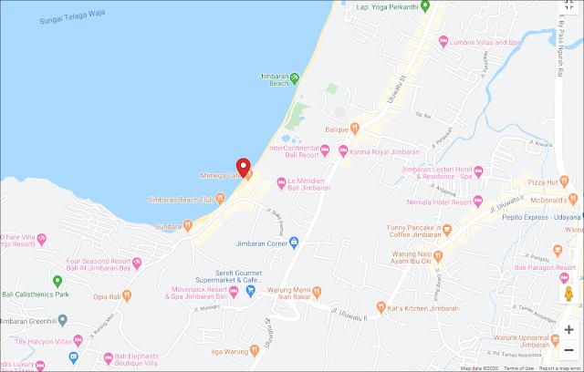 Maps of jimbaran beach bali