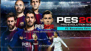 FTS Mod PES 2018 by Iman Blaugrana Apk + Data Obb
