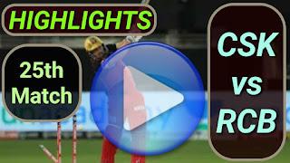 CSK vs RCB 25th Match