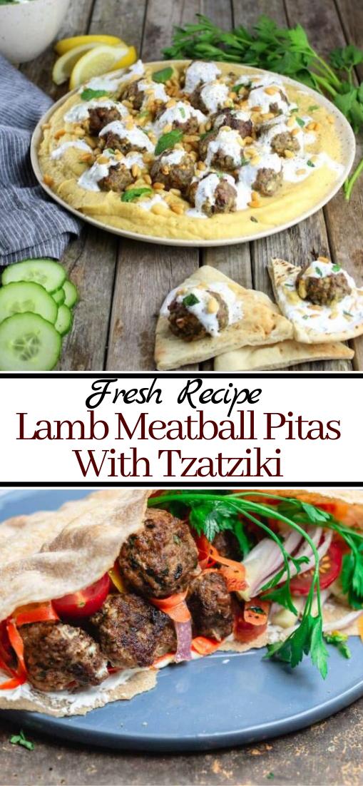 Lamb Meatball Pitas With Tzatziki #dinnerrecipe #food #amazingrecipe #easyrecipe