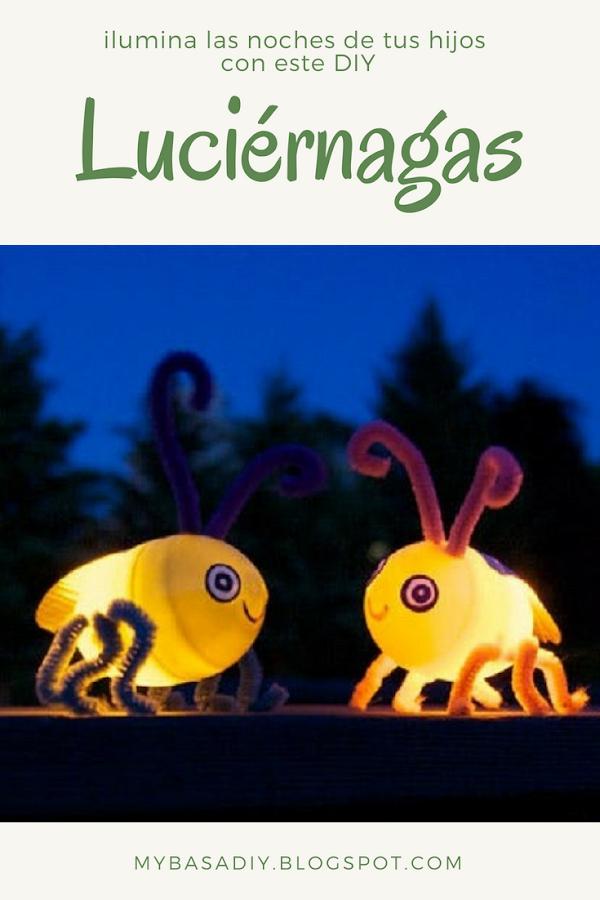 manualidad paso a paso para niños luciérnagas de plástico con luces lez diy