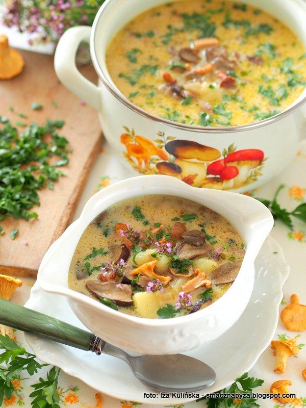 zupa z grzybami, kartoflanka grzybowa, grzyby lesne, zupa z grzybow, sezonowa zupa, swieze grzybki, prosto z lasu, najsmaczniejsza grzybowa, jakie grzyby na zupe, obiad, zupa dnia, zakochane w zupach, kocham zupy