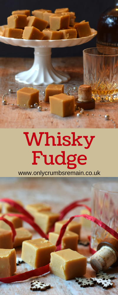 How to make Whisky (Whiskey) Fudge, it's a great homemade confectionery to offer loved ones as an edible gift this Christmas.