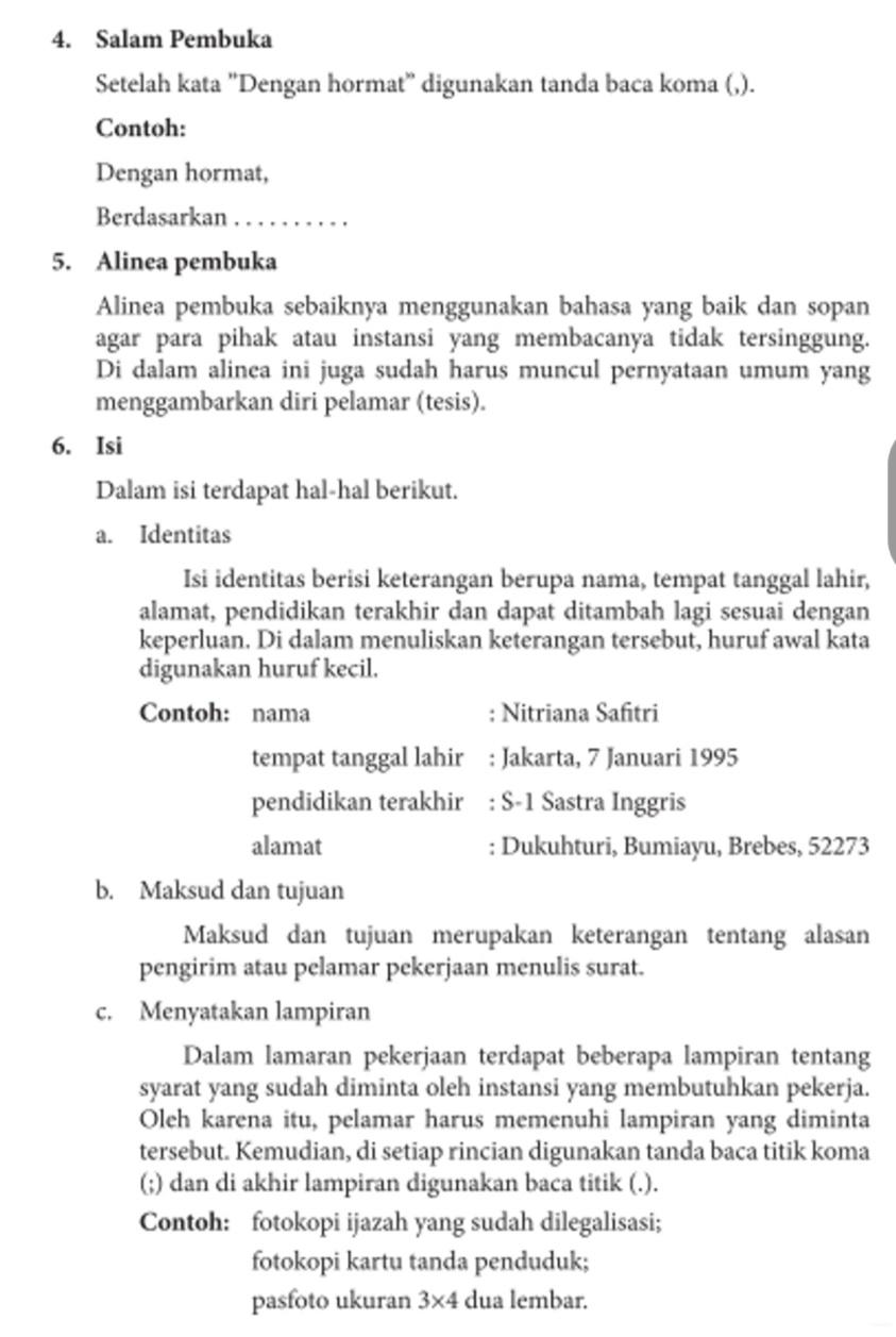 82 Contoh Surat Lamaran Kerja Di Pt Mortar Utama