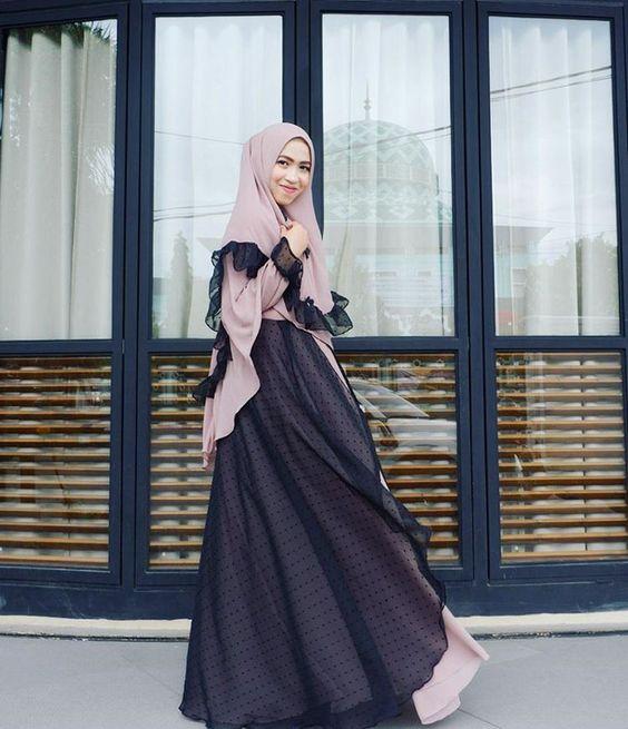90 Model Gamis Remaja Modern Syar I Terlaris 2019 Terbaru9 Info